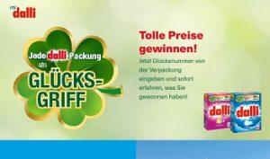 mydalli.de/glueck Gewinnspiel, Dalli Gewinnspiel
