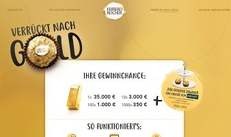 Ferrero Rocher Code eingeben, Ferrero Aktionscode Gewinnspiel