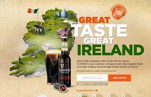 Guinness Code eingeben Gewinnspiel, Guinness Gewinnspiel