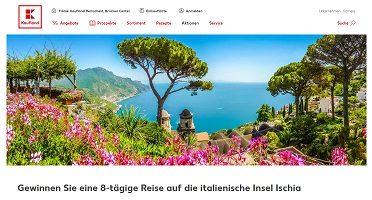 Ischia Reise Gewinnspiel, Kaufland Gewinnspiel
