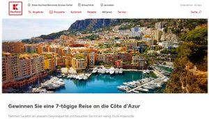 Côte d'Azur Reise Gewinnspiel, Kaufland Gewinnspiel
