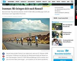 Ironman Hawaii Reise Gewinnspiel, fit For Fun Gewinnspiel
