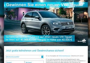 Burda VW Tiguan Gewinnspiel