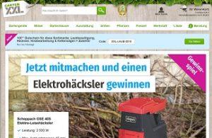 Scheppach Elektro-Häcksler Gewinnspiel, GartenXXL Gewinnspiel