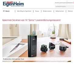 Zamo Laserentfernungsmesser Gewinnspiel, MeinEigenheim Gewinnspiel
