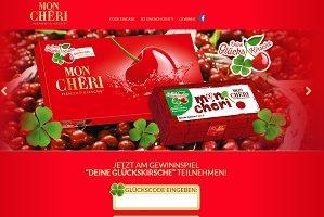Mon Cheri Glücks Kirsche, Mon Cheri Code eingeben, Mon Cheri Gewinnspiel