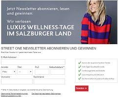 Salzburger Land Luxus Wellness-Tage Gewinnspiel, Street One Gewinnspiel