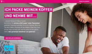 Telekom Gruppenreise Gewinnspiel, Telekom Gewinnspiel