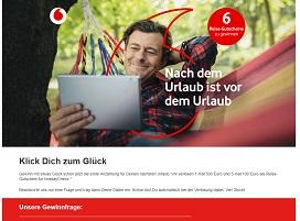 HolidayCheck Reisegutschein Gewinnspiel, Vodafone Gewinnspiel