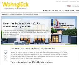 Deutscher Traumhauspreis Gewinnspiel, Wohnglück Gewinnspiel