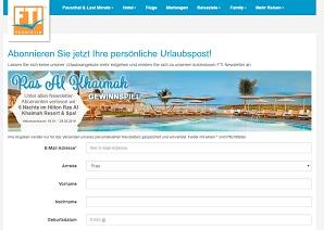 Dubai Reise Gewinnspiel, FTI Gewinnspiel