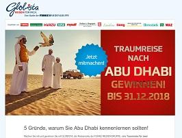 Abu Dhabi Reise Gewinnspiel, Globista Gewinnspiel