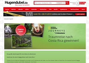 Costa Rica Reise Gewinnspiel, Hugendubel Gewinnspiel