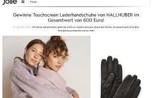 Hallhuber Touchscreen Handschuhe Gewinnspiel, Jolie Gewinnspiel