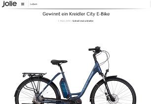 jolie gewinnspiel e bike von kreidler gewinnspiele 2019. Black Bedroom Furniture Sets. Home Design Ideas