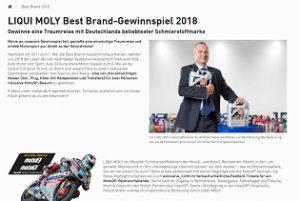 MotoGP Reise Gewinnspiel, Liqui Moly Gewinnspiel