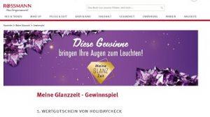 HolidayCheck Reisegutschein Gewinnspiel, Rossmann Gewinnspiel