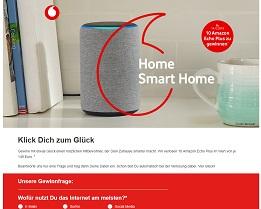 Amazon Echo Plus Gewinnspiel, Vodafone Gewinnspiel