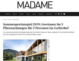 MADAME MAGAZIN GEWINNSPIEL