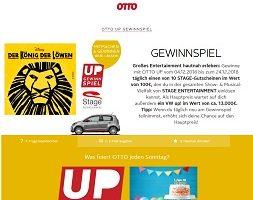 Otto Up Gewinnspiel, Otto Gewinnspiel