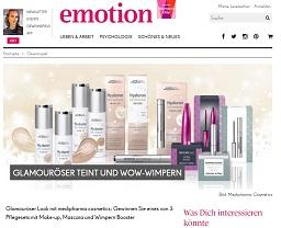 Medipharma Cosmetics Pflegeset Gewinnspiel, emotion Gewinnspiel