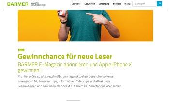 iPhone X Gewinnspiel, Barmer Gewinnspiel