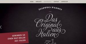 Vespa Motorroller Gewinnspiel, Doppio Passo Gewinnspiel
