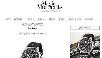 TW Steel Uhr Gewinnspiel, Magic Moments Gewinnspiel