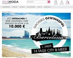 MiaModa Barcelona Gewinnspiel, MiaModa Gewinnspiel