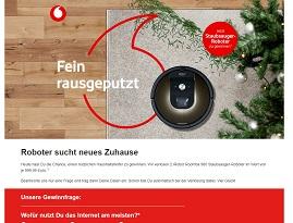 iRobot Saugroboter Gewinnspiel, Vodafone Gewinnspiel