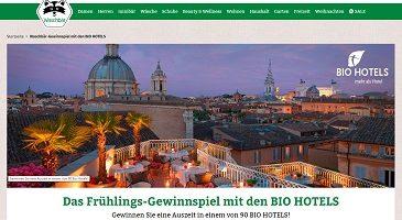 Biohotels Gutschein Gewinnspiel, Waschbär Gewinnspiel