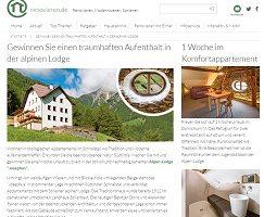 Südtirol Urlaub Gewinnspiel, renovieren.de Gewinnspiel