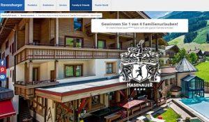 Saalbach Urlaub Gewinnspiel, Ravensburger Gewinnspiel