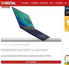 Acer Notebook Gewinnspiel, TV Digital Gewinnspiel