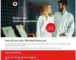 Jochen Schweizer Relax-Urlaub Gewinnspiel, Vodafone Gewinnspiel