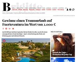 Fuerteventura Urlaub Gewinnspiel, Brigitte Gewinnspiel