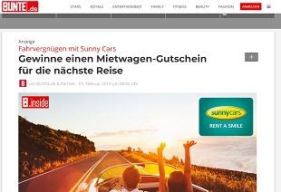 Sunny Cars Gutschein Gewinnspiel, Bunte Gewinnspiel