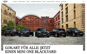 Mini One Blackyard Gewinnspiel, Mini Gewinnspiel
