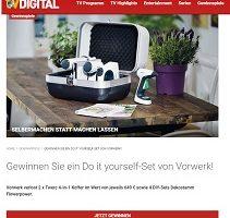 Twercs Werkzeugkoffer Gewinnspiel, TV Digital Gewinnspiel