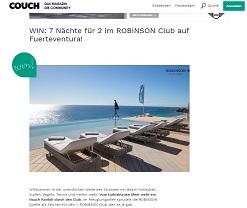 Fuerteventura Urlaub Gewinnspiel, Couch Gewinnspiel