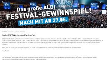 Aldi festival gewinnspiel 2019