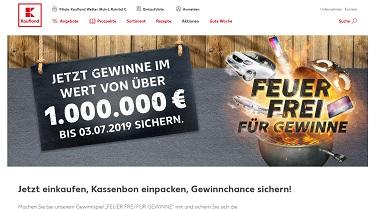 feuerfrei.kaufland.de, Gewinnspiel, Kaufland Gewinnspiel