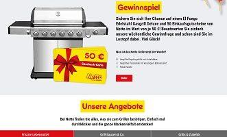 Netto Grill-Konfigurator, netto-online.de/grill-konfigurator, Netto Gewinnspiel